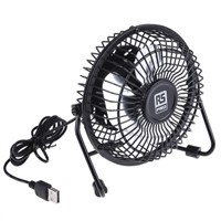 RS PRO Desk Fan 100mm blade diameter 1 speed 5 V dc with plug: USB