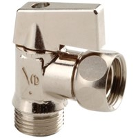 Sferaco Chrome Plated Brass Manual Ball Valve 3/8 in BSPP Angle Ball Valve