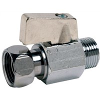 Sferaco Chrome Plated Brass Manual Ball Valve 3/8 in BSPP Straight Ball Valve