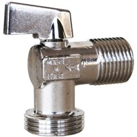 Sferaco Chrome Plated Brass Manual Ball Valve 1/2 in BSPP, 3/4 in BSPP Angle Ball Valve