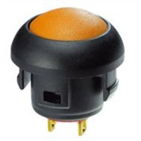 RS PRO Single Pole Single Throw (SPST) Momentary Yellow LED Push Button Switch, IP67, 13.6 (Dia.)mm, Panel Mount, 32 V