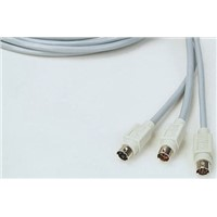 CORDON MINIDIN 6 M/M 6M 6m 6-Pin Male Mini-DIN to 6-Pin Male Mini-DIN Audio Video Cable Assembly