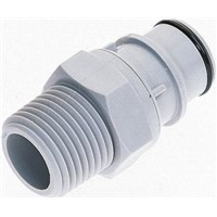 Straight Hose Coupling 3/4in Coupling Insert - Valved, Thread Mount, PP