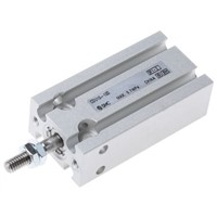 SMC Pneumatic Multi-Mount Cylinder CU Series, Double Action, Single Rod, 10mm Bore, 10mm stroke