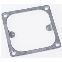 MK Electric Grey 1 Gang Face Plate Metal BS 5733 Gang Plate