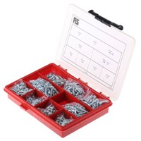 545 piece Steel Screw/Bolt Kit, No. 4, No. 6, No. 8