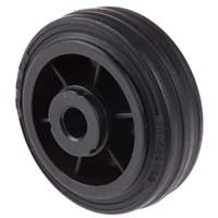 LAG Black Rubber Castor Wheels 13104, 50kg