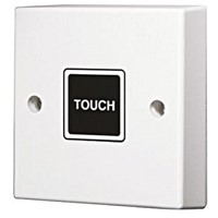 Touch Timer Light Switch, 20 min, Wall Mount, 2 Way, 1 Gang 220  240 V ac 10 A