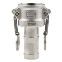 Straight Male Hose Coupling 1in Part C Cam & Groove Coupler, Stainless Steel