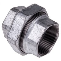 Georg Fischer Malleable Iron Fitting Taper Seat Union, 2 in BSPP Female (Connection 1), 2 in BSPP Female (Connection 2)