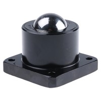 ALWAYSE 4-Hole Flange 38.1mm Steel Ball Transfer Unit