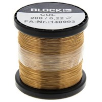 Block Single Core 0.22mm diameter Copper Wire, 429m Long