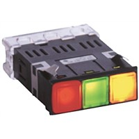 Yoshida Electric Industry, Panel Mount Red/Green/Orange LED Pilot Light, 7 mA