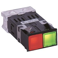 Yoshida Electric Industry, Panel Mount Red/Green LED Pilot Light, 7 mA