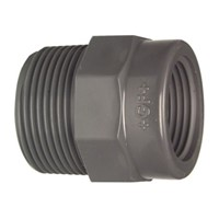 Georg Fischer Straight Reducer PVC Pipe Fitting, 1/2in