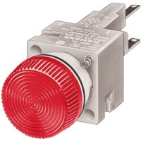 Siemens, Panel Mount Red Incandescent Pilot Light, 16.2mm Cutout, IP65, IP67, 10 A