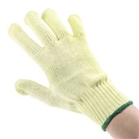 BM Polyco Touchstone Kevlar Gloves, Size 8, Yellow, Cut Resistant, Heat Resistant