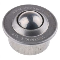 ALWAYSE Circular Flange 15mm Stainless Steel Ball Transfer Unit