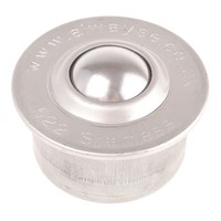 ALWAYSE Circular Flange 22mm Stainless Steel Ball Transfer Unit