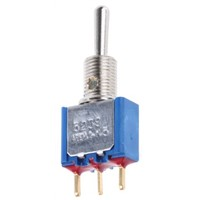 APEM SPST Toggle Switch, On-Off-(On), PCB