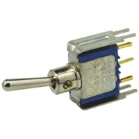 APEM SPST Toggle Switch, On-(On), PCB