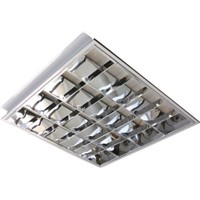 Knightsbridge 18 W Fluorescent Ceiling Light, 230 V Recessed, 4 Lamp, 595 mm Long, IP20