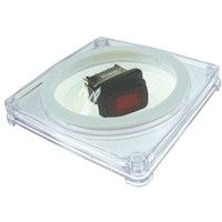 Licefa 1 Cell Transparent Plastic Compartment Box, 10mm x 75mm x 75mm