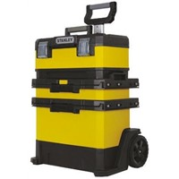 Stanley Tools Rolling Workshop Plastic Tool Chest, with 2 Wheels, 570 x 410 x 720mm