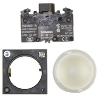 Siemens, Panel Mount Clear Pilot Light, 22mm Cutout, IP66, 10 A