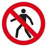 PP Rigid Plastic No Pedestrians Prohibition Sign, None, None