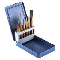 6 Piece Chisel & Punch Set Metal Case