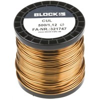 Block Single Core 1.12mm diameter Copper Wire, 44m Long