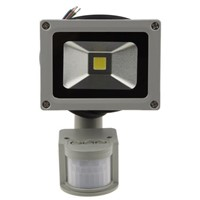 LED Floodlight , 800-900LM 10W IP65 PIR