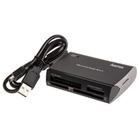 Hama USB 2.0 External Card Reader Writer for Compact Flash Type I, Compact Flash Type II, Memory Stick, Memory Stick