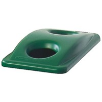 Rubbermaid Commercial Products Green Plastic Bin Lid for Slim Jim Container, 70mm