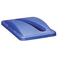 Rubbermaid Commercial Products Blue Plastic Bin Lid for Slim Jim Container, 70mm