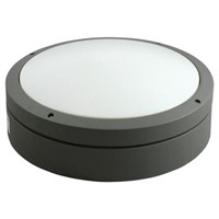 RS PRO, 15.5 W Round LED Bulkhead Light LED Bulkhead, Opal, IP65, with Opal Diffuser, , Lamp Supplied