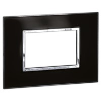 Legrand Black 1 Gang Cover for Support Frame PMMA, Polycarbonate Cover Plate
