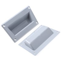 Grey plastic moulded panel handle,101mm