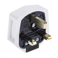 MK Electric UK Mains Plug Type G - British, 13A, Cable Mount, 250 V ac