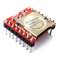 4D Systems 3.3  5V UART Audio Module, 21 x 20.5 x 11.3mm