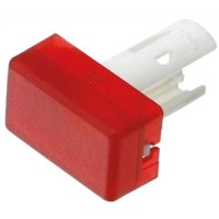 Red Rectangular Push Button Indicator Lens for use with 18 Series