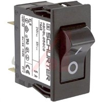 Schurter Snap In Circuit Breaker Switch - 125/250V Voltage Rating, 5A Current Rating
