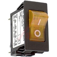 Schurter Snap In Circuit Breaker Switch - 220  240V Voltage Rating, 15A Current Rating