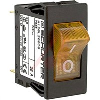 Schurter Snap In Circuit Breaker Switch - 220  240V Voltage Rating, 20A Current Rating