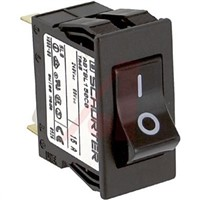 Schurter Snap In Circuit Breaker Switch - 125/250V Voltage Rating, 15A Current Rating