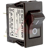 Schurter Snap In Circuit Breaker Switch - 125/250V Voltage Rating, 2A Current Rating
