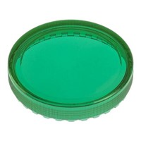 Green Round Flat Push Button Indicator Lens for use with 04 Series Push Button