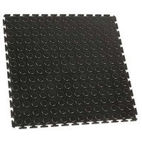 COBA Black Industrial Floor Tile PVC Workfloor With Solid Surface Finish 500mm (Length) 0.5mm (Width) 5mm (Thickness)