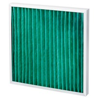 Camfil AeroPleat Green Pleated Panel Filter, Cotton, Synthetic Fibre Media, G4 Grade, 592 x 592 x 48mm, Media Area 1.2m2